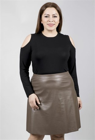 Big Size Leather Skirt